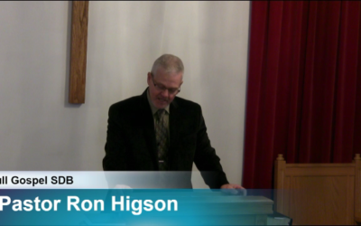 """Sermon – """"Appointed to Give Thanks"""""""