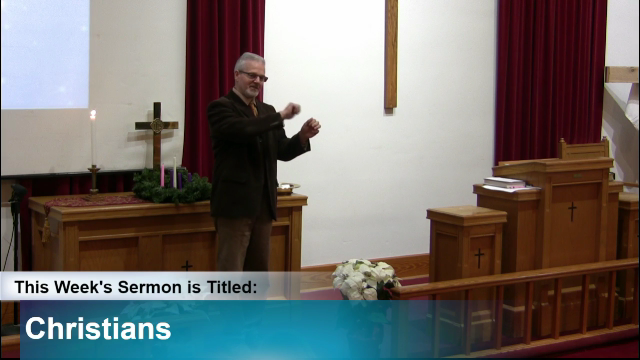 "Sermon – ""Christians"""