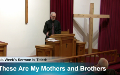 """Sermon – """"These Are My Mothers and Brothers"""""""