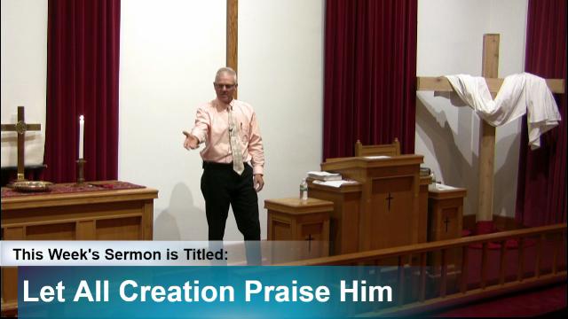 """Sermon – """"Let All Creation Praise Him"""""""