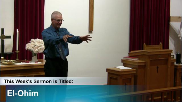 """Sermon – """"El-Ohim"""""""