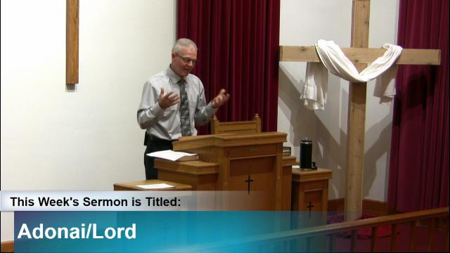 "Sermon – ""Adonai/Lord"""