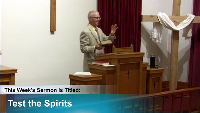 "Sermon – ""Test the Spirits"""