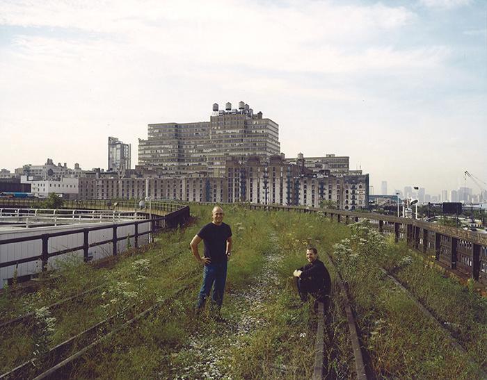 Joshua David and Robert Hammond at the Rail Yards