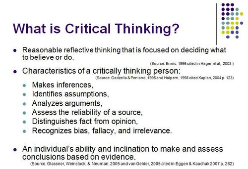critical thinking exam 1