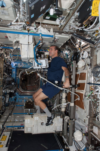 Exercise on ISS... today.