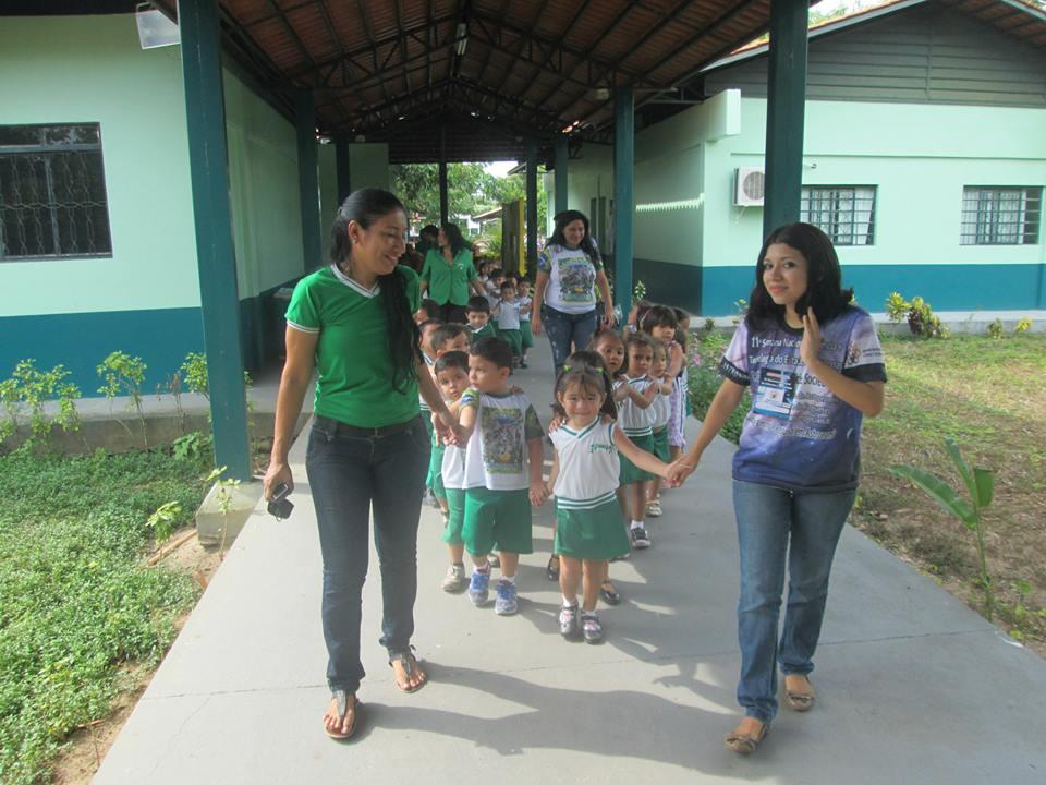 Children visiting the University campus