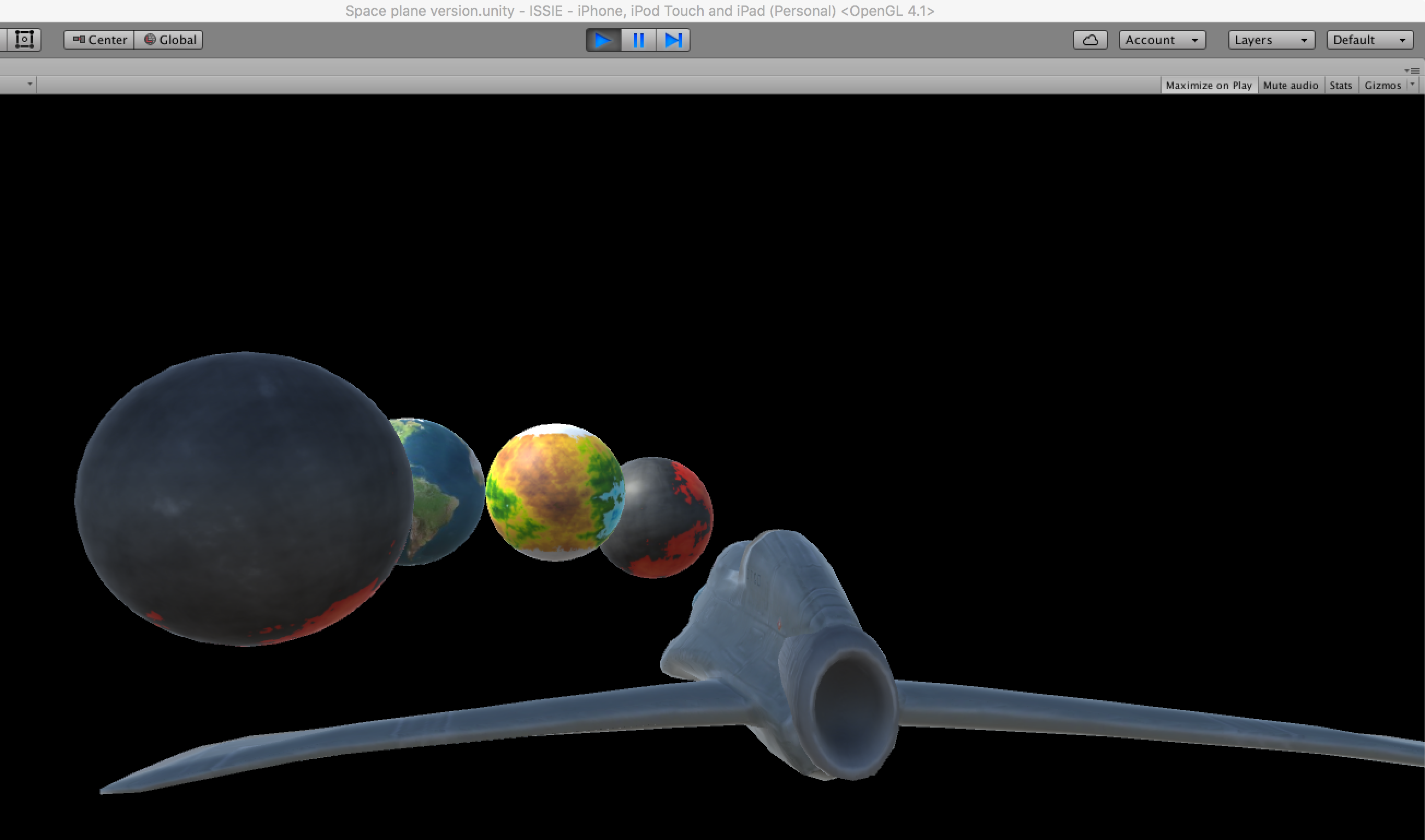 Some exoplanets created for the game