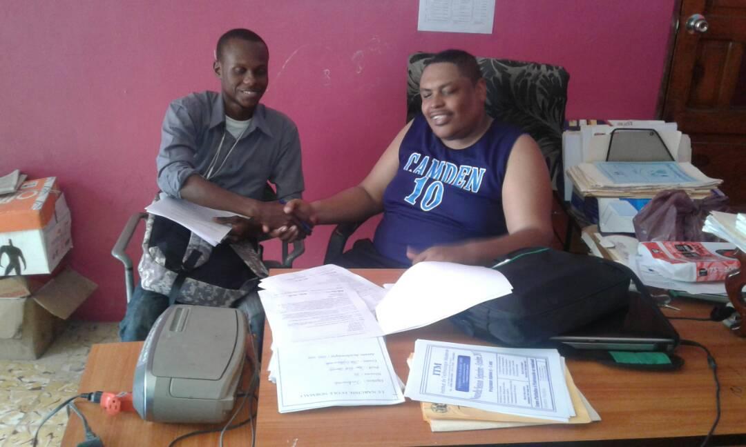 M. Hoberde & Dr Narcisse in the SHA HQ