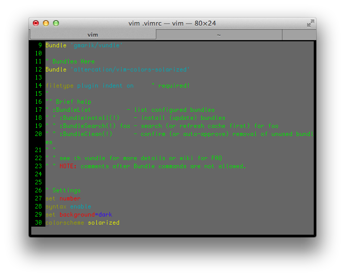 Vim and Tmux on your Mac