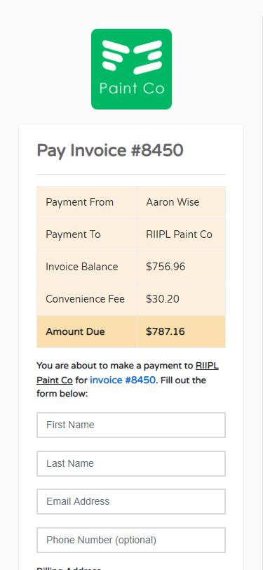 FieldGrovoe Payment
