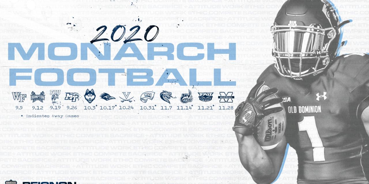 ODU Reveals 2020 Schedule