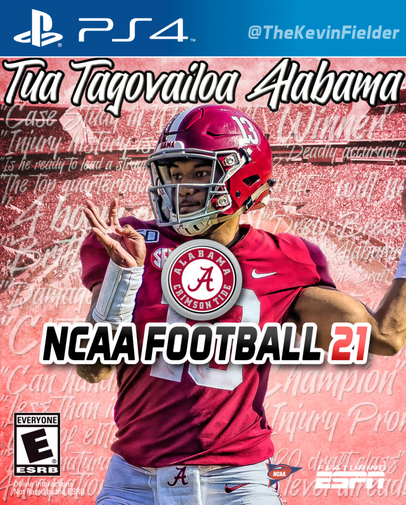 Imagining  Football Game Video Covers 2021 Potential NCAA