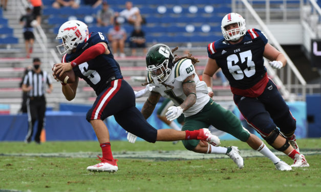 Nick Tronti Scores Thrice, FAU Victors in Game 1