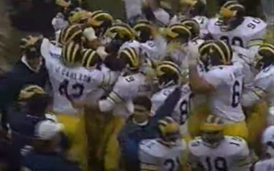 CFB Flashback: 30-Year Anniversary — Carlson's Kick Lifts Michigan Past Ohio State