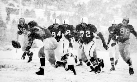 """CFB Flashback: 70-Year Anniversary — Ohio State Tops Michigan in Famed """"Snow Bowl"""" to Win Big Nine"""