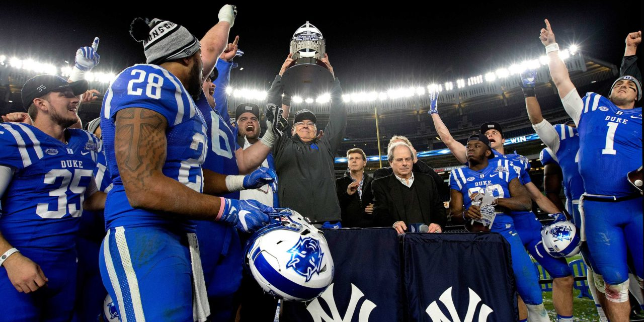 CFB Flashback: 5-Year Anniversary — Duke Outlasts Indiana in Pinstripe Bowl for First Bowl Win in 55 Years