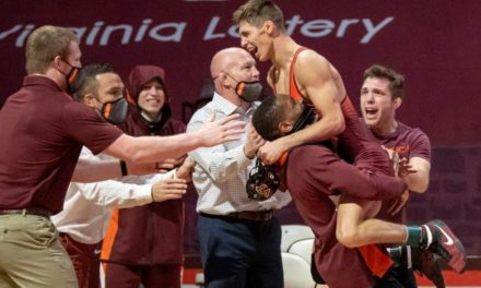 """I Was Pretty Amped Up"": Sam Latona Reflects On His Dual-Clinching Moment vs. No. 3 NC State"
