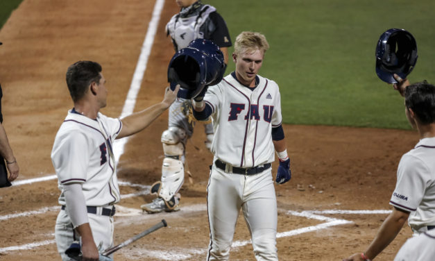 Instant Sensation: FAU Freshman Caleb Pendleton Hits Two Grand Slams in First Two At-Bats, Same Inning
