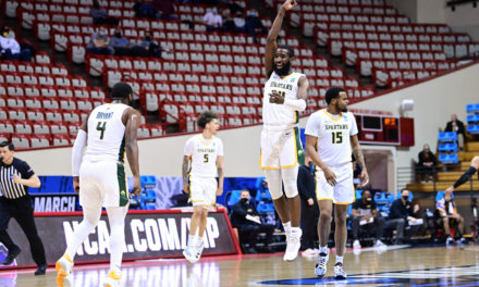 """Hawkins Has """"One Shining Moment"""" as Spartans Win First Four Match-up"""