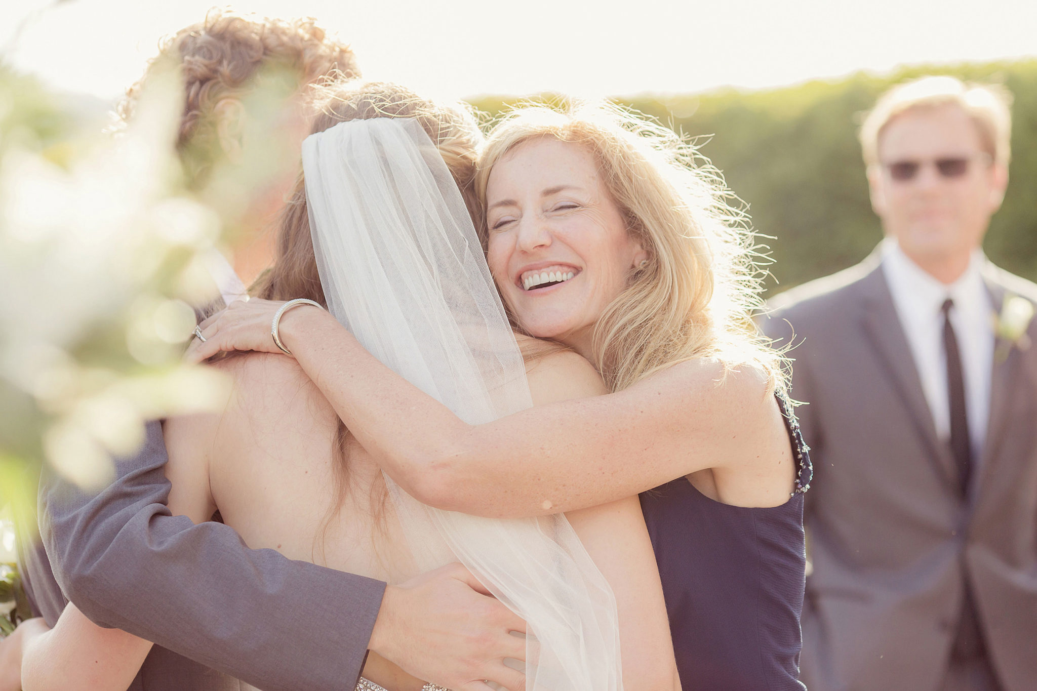 mothers embrace after the ceremony at Palos Verdes Golf Course
