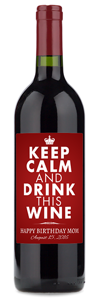 Keep Calm Birthday Wine