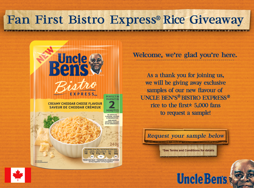 UNCLE BEN'S® Fan First BISTRO EXPRESS® Giveaway