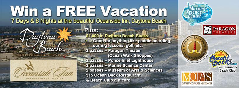 Daytona Beach Ultimate Vacation Sweepstakes
