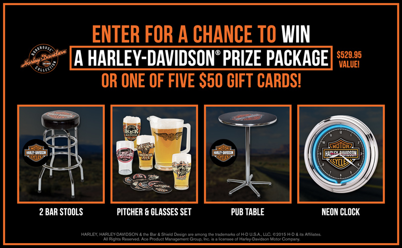 Harley Davidson Prize Package Sweepstakes