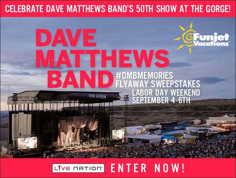 Dave Matthews Band #DMBMemories Flyaway Sweepstakes