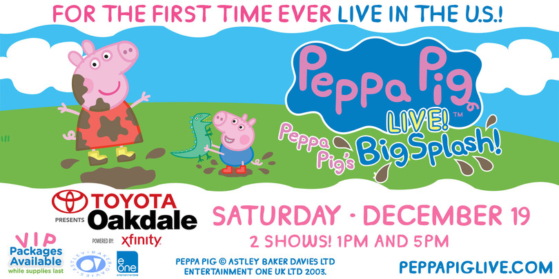 Peppa Pig Live At Oakdale Theatre Ticket Giveaway