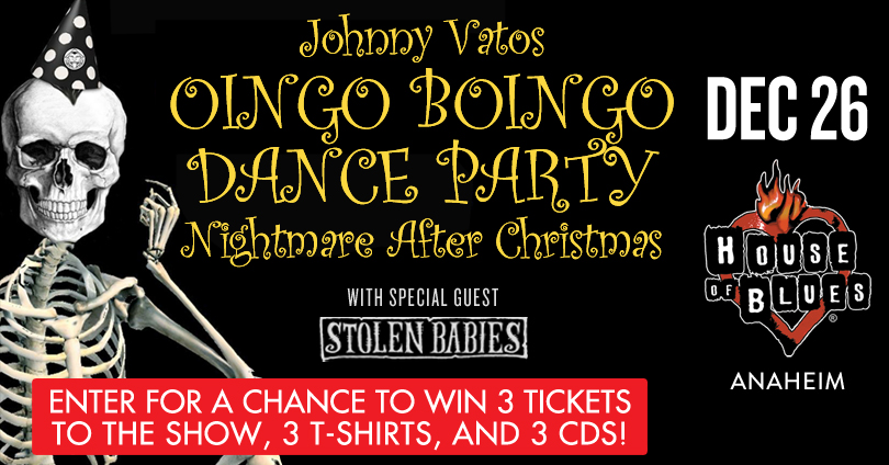 Nightmare After Christmas Boingo Dance Party Giveaway