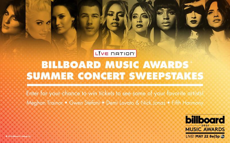 Billboard Music Awards Summer Concert Sweepstakes