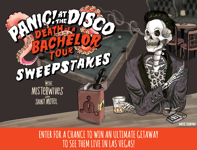 9262f62e Panic! At The Disco Death Of A Bachelor Tour Sweepstakes