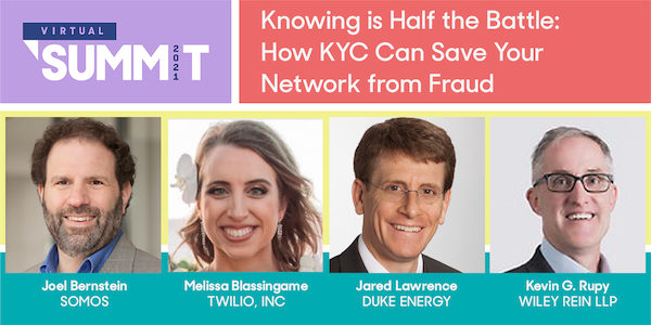 Explore How to KYC with Twilio, Duke Energy and Wiley Rein LLP at the 2021 Somos Summit!