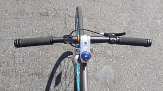 Guidão de bicicleta, vista de cima. Foto: Talita Noguchi