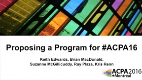 How To Propose a Program for #ACPA16