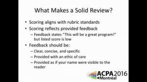 Program Review Webcast