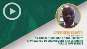 Stephen Quaye on the Topic of