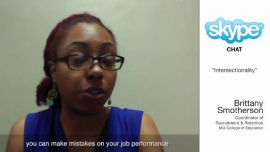 Skype Chat with Brittany Smotherson:  Intersectionality