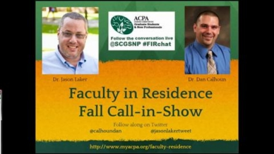 Faculty in Residence Fall Call in Show