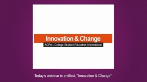 ACPA Leadership Training Series: Innovation and Change Management