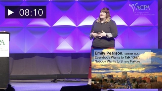 """ACPA Powered by Pecha Kucha: Emily Pearson - Everybody Wants to Talk """"Grit"""", Nobody Wants to Share Failure"""