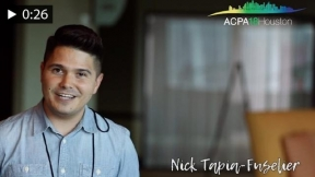 Get INVOLVED with Nick Fuselier at #ACPA18!