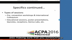 ACPA 2016 for Attendees from Outside of the US or Canada