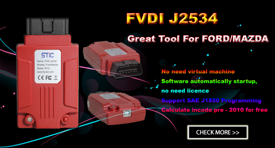 FVDI J2534 VCI FVDI J2534 Diagnostic Tool For Ford And Mazda Online