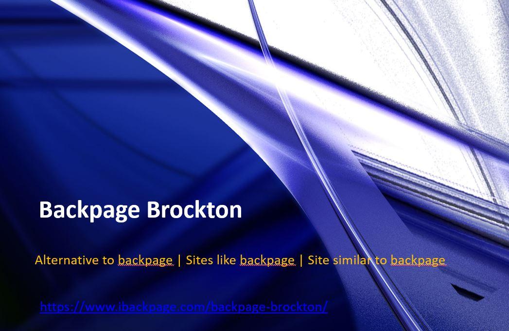 Brockton backpage