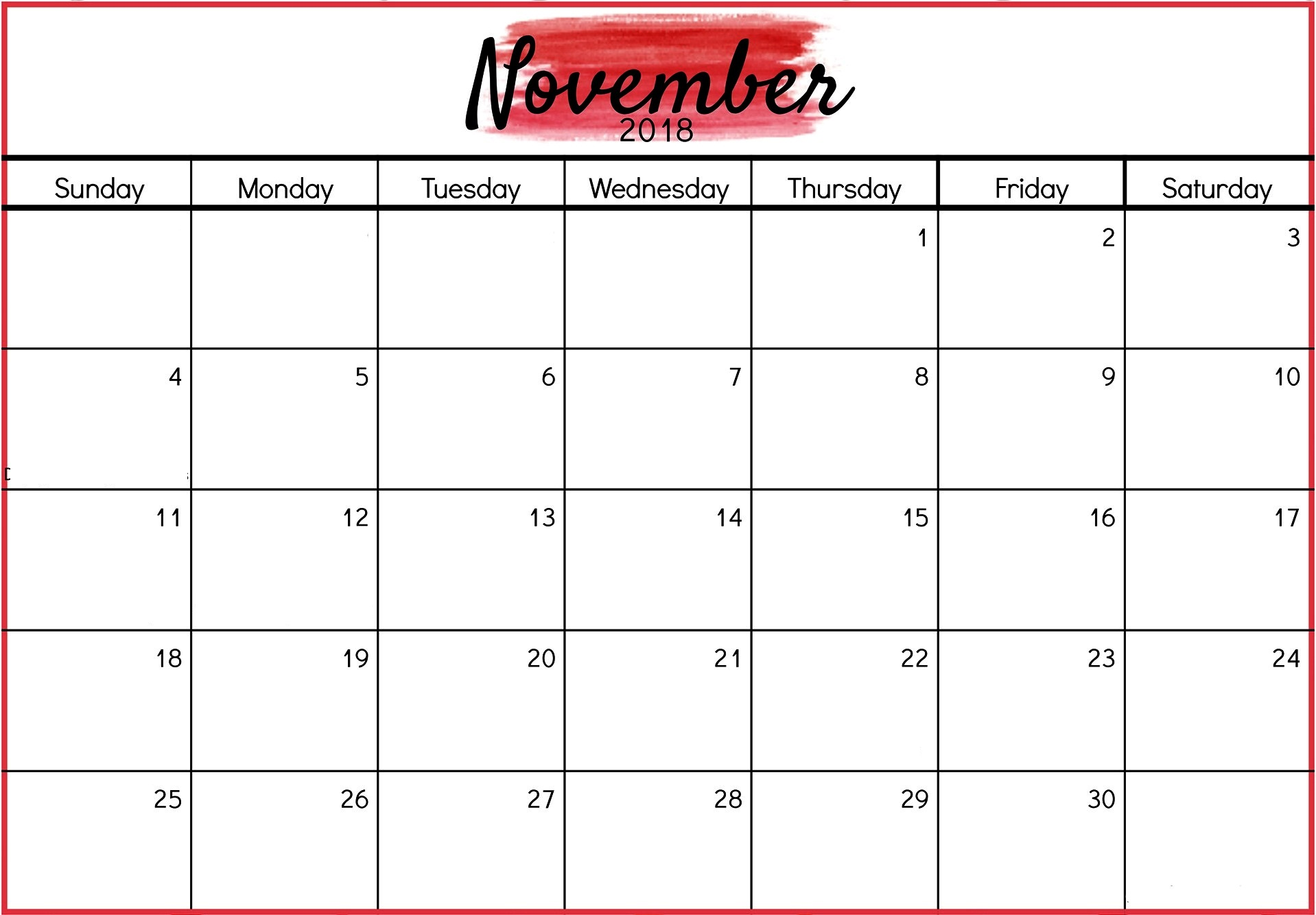 graphic about Nov. Calendar Printable identify Perfect 20+ November 2018 Calendar Printable Templates Articles or blog posts