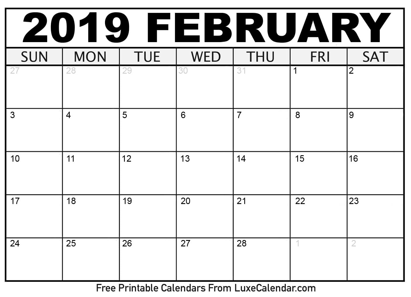 2019 February Calendar 7 Recommended Tools to Build 2019 February Calendar | Posts by