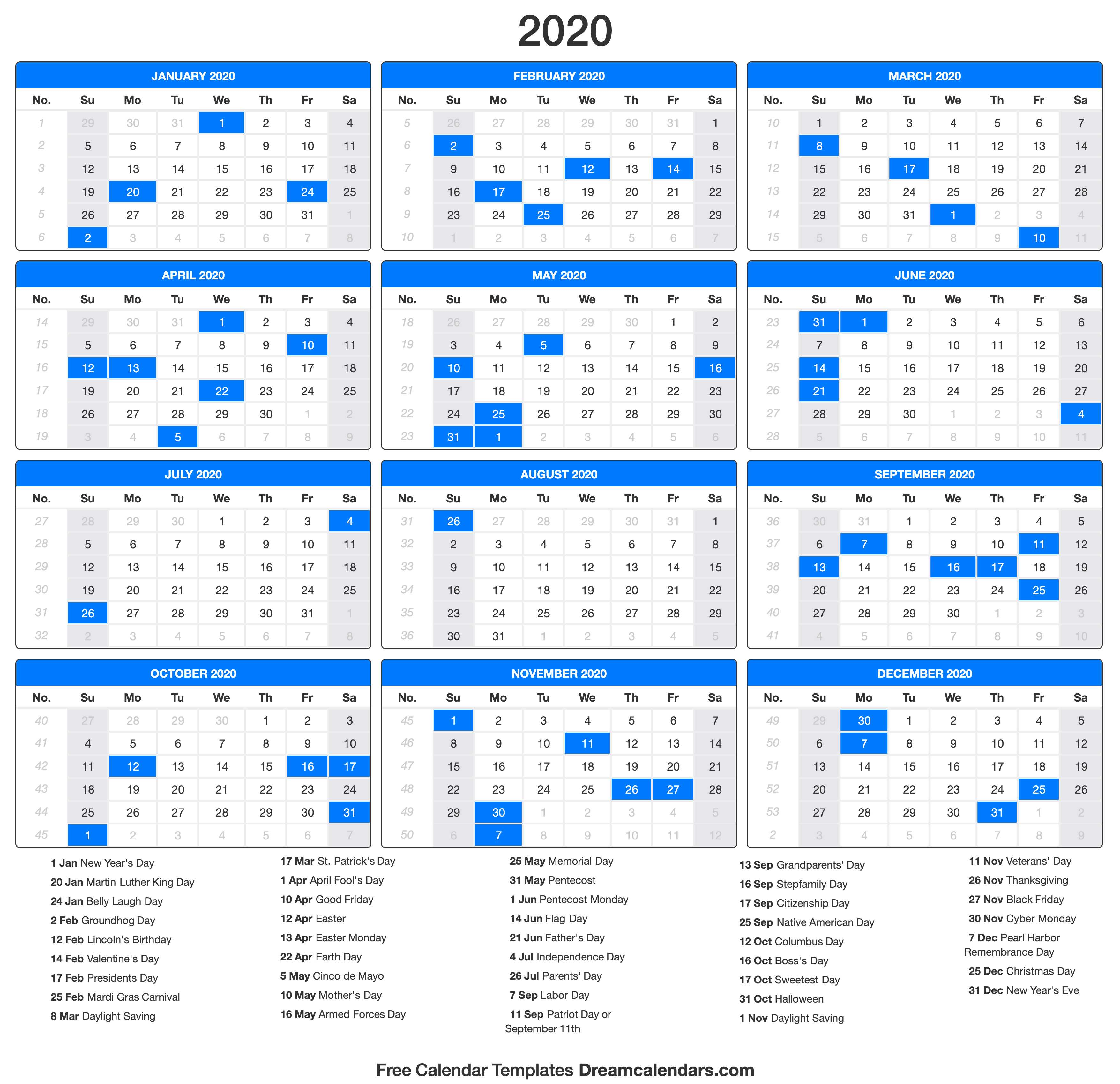 Make a great 2020 calendar free! | Posts by Helena Orstem ...